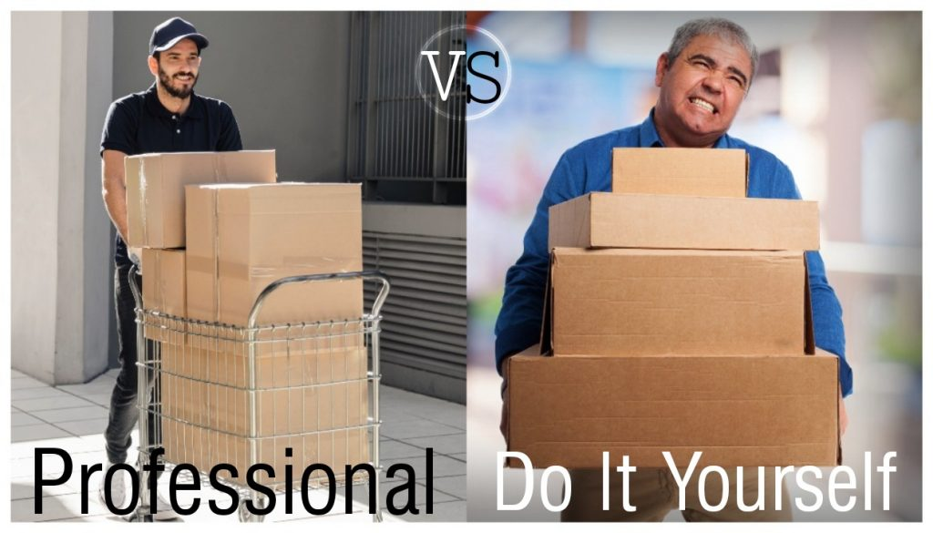 Which is more stress-free, moving it yourself or hiring a professional?
